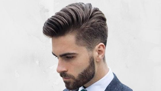 Pompadour haircut to get more volume