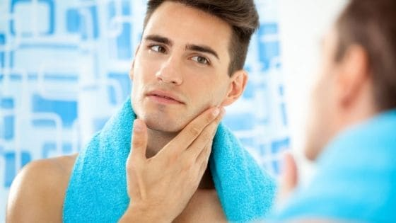 How should a man take care of his face?