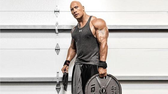 Dwayne Johnson, workout and feeding